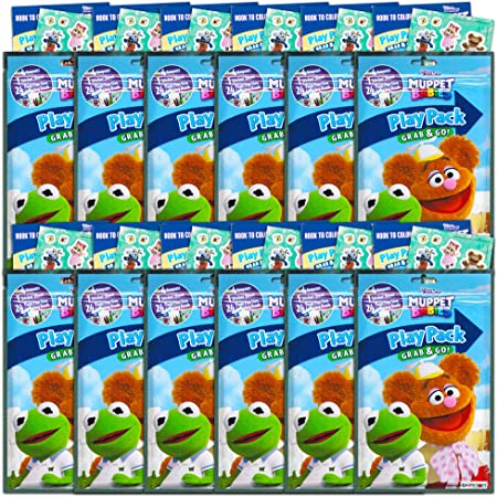 Amazon.com: Muppet Babies Party Favors Pack ~ Bundle Of 12 Muppet Babies  Play Packs Filled With Stickers, Coloring Books, And Crayons (Muppet Babies  Party Supplies): Toys & Games