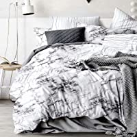 Marble Quilt Cover Set - All Size Bed Ultra Soft Quilt Duvet Doona Cover Set with Pillowcase (Double)