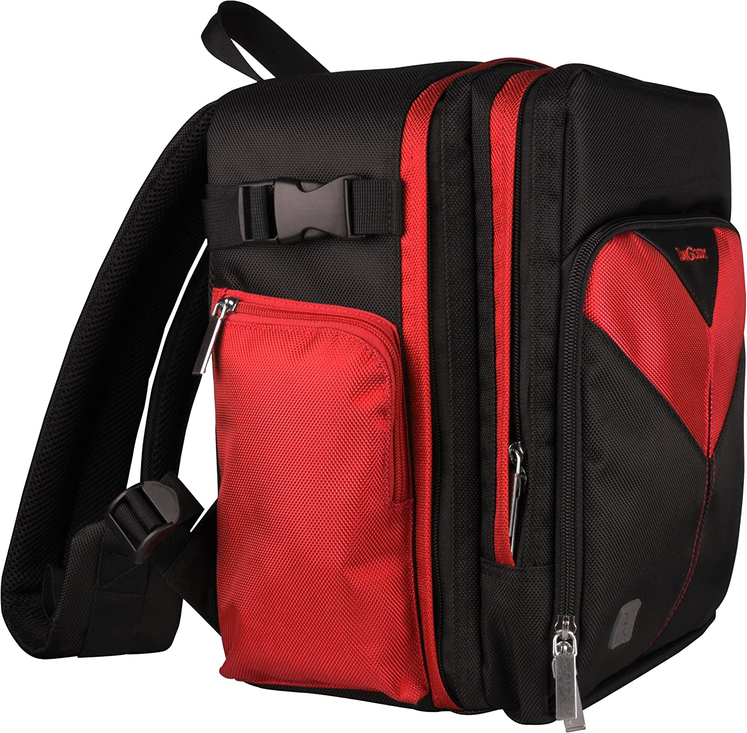 for Nikon D4 Sparta Travel Nylon Backpack Bag D4s D40x Digital SLR Camera D4 Series Red, Black D40
