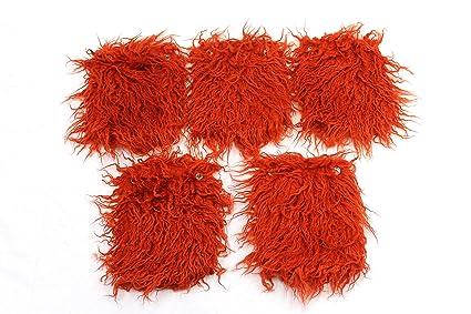 d628c919da18 Amazon.com: Travel Chic 5 Piece Furry Orange Comfort Handle Wraps ...