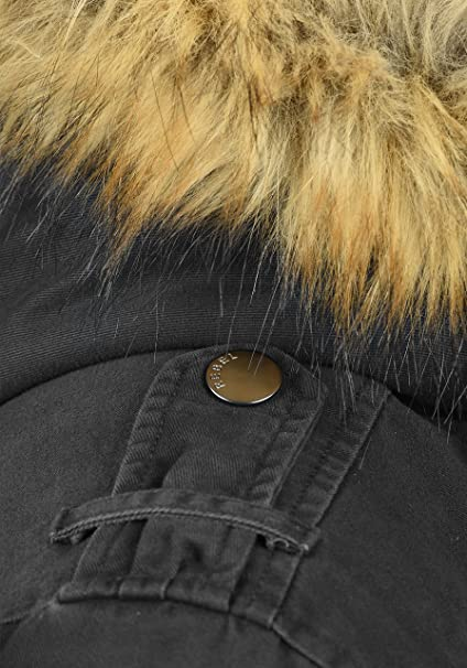 Redefined Rebel Mapee Herren Winter Jacke Parka Mantel Lange Winterjacke  gefüttert aus 100% Baumwolle mit Kunst-Fellkapuze  Amazon.de  Bekleidung fd38e8d70f