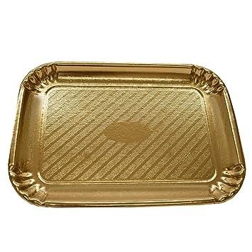 Dorado Rectangular Cartón de repostería y bandeja para tartas/platos – al por mayor/