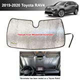 YelloPro Auto Custom Fit Car Front Windshield Reflective Sunshade Protector for 2019 2020 Toyota RAV4 LE XLE Premium…