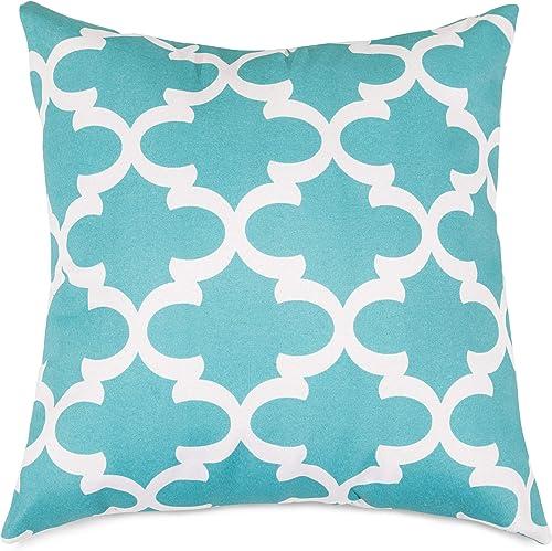 Majestic Home Goods Trellis Pillow, X-Large, Teal
