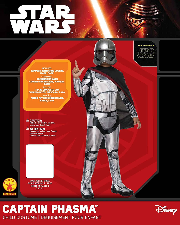 Rubies Star Wars Captain Phasma Boys Kids Children Halloween Costume 620086