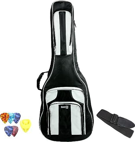 RockJam Delux Bolsa de guitarra eléctrica y guitarra acústica ...