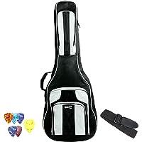 RockJam Delux Bolsa de guitarra eléctrica y guitarra acústica