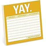 Knock Knock Sticky Note Pad, Yay (12475)