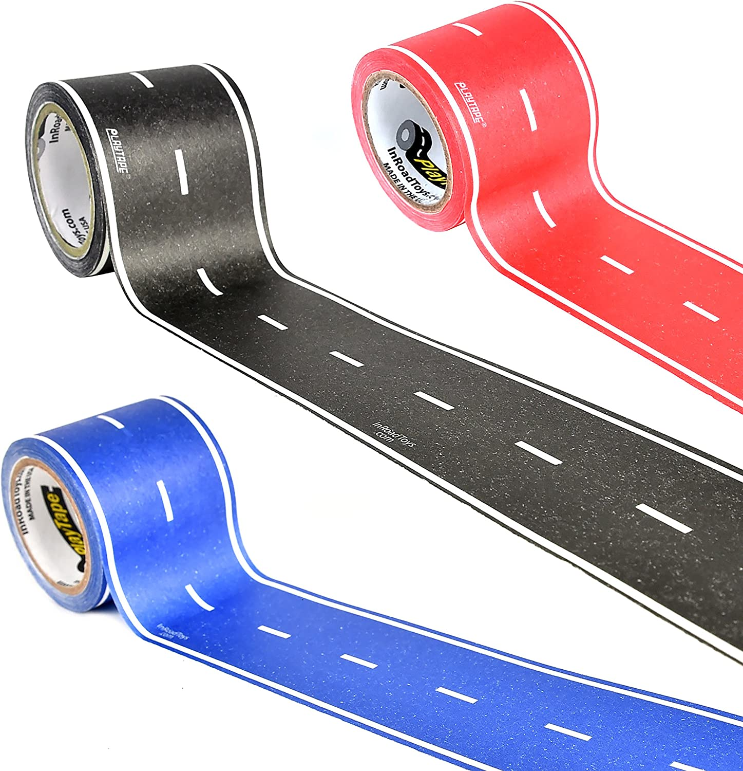 Road Car Tape Great for Kids PlayTape Black Road Sticker Roll for Cars Track