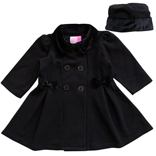 c1c67572bc24 Amazon.com  Good Lad 2 6X Girls Black Fleece Coat with Black Velvet ...
