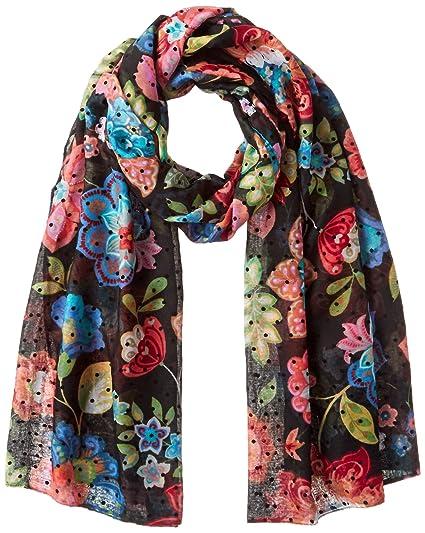 Desigual foulards 17wawfd0 caribou noir, Noir, Taille Unique  Amazon ... af970f68473