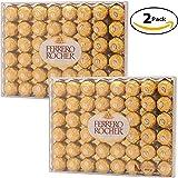 Ferrero Rocher Hazelnut Chocolate 48 count (Bundle of 2 / 96ct Total)