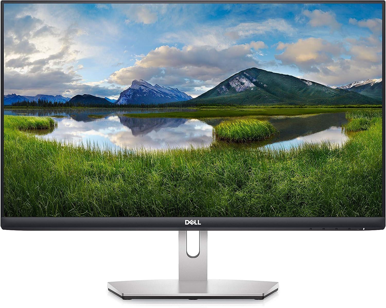 Dell S2421HN 24 Inch Full HD 1080p (1920 x 1080) 75Hz IPS Ultra-Thin Bezel Monitor 2 x HDMI Ports, Audio Line Out, Adaptive AMD FreeSync, Silver