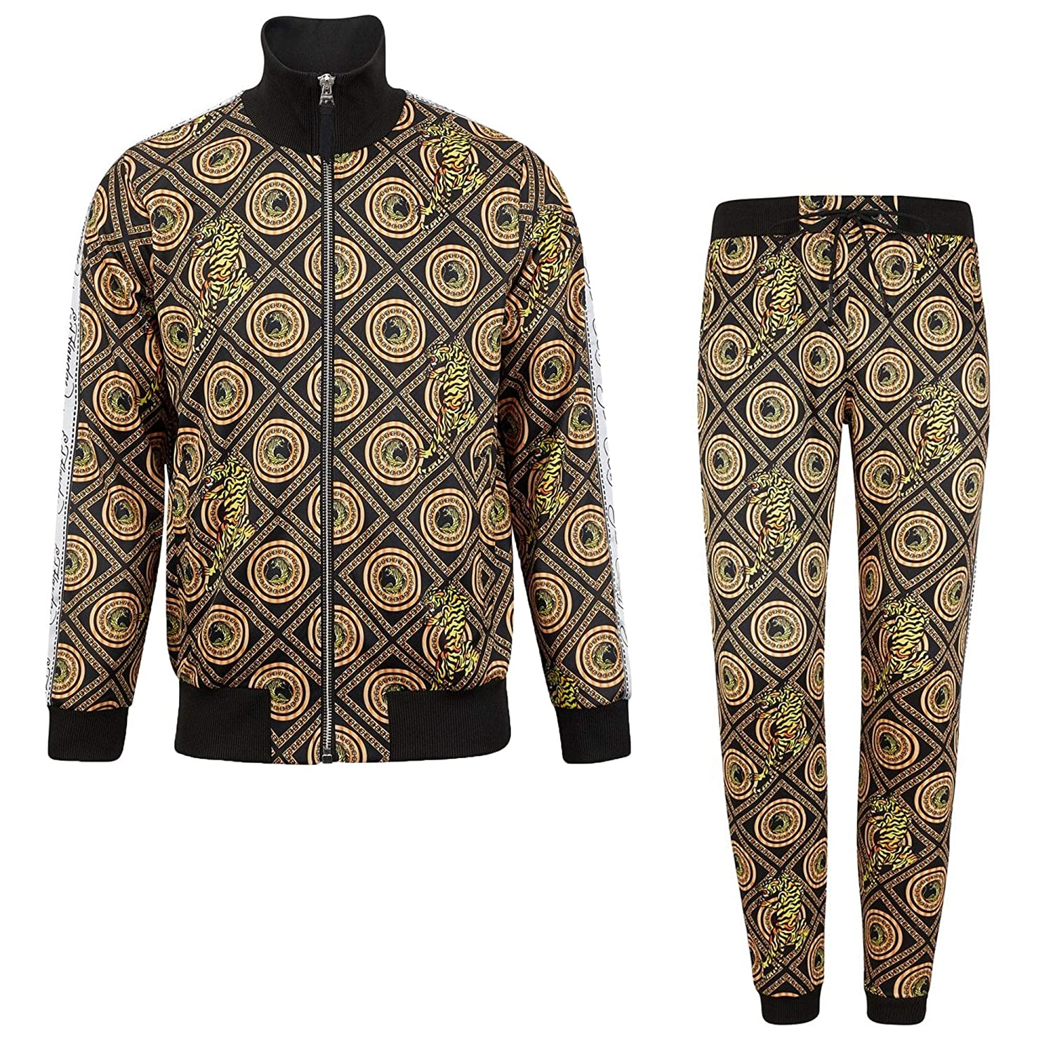 Black L Hardy Tiger Crouch Baroque Black Zip Up Tracksuit Ed Poly