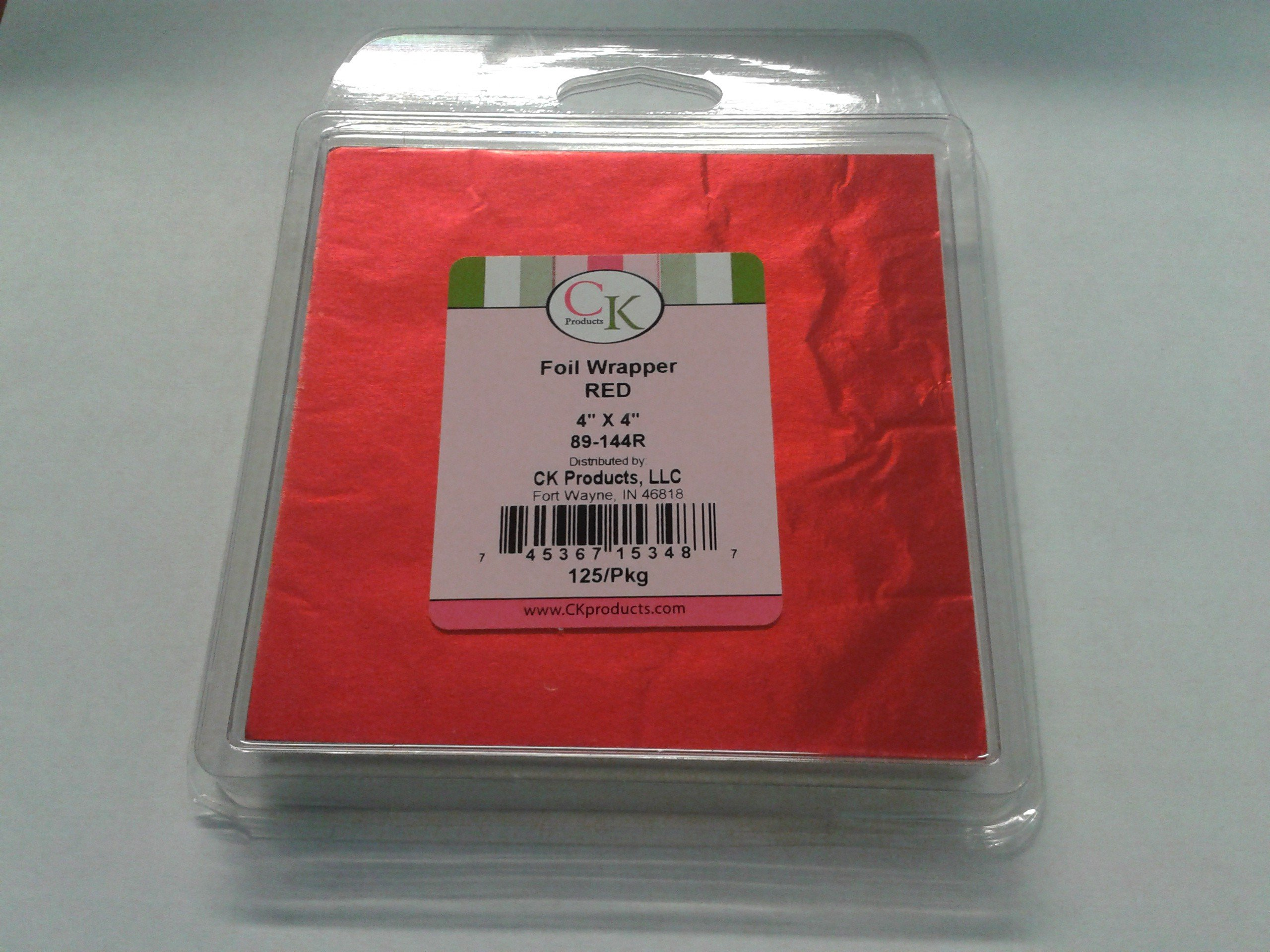 Red foil wrapper, 4'' X 4'' , 125/Pkg perfect for chocolate, sweet wrapping