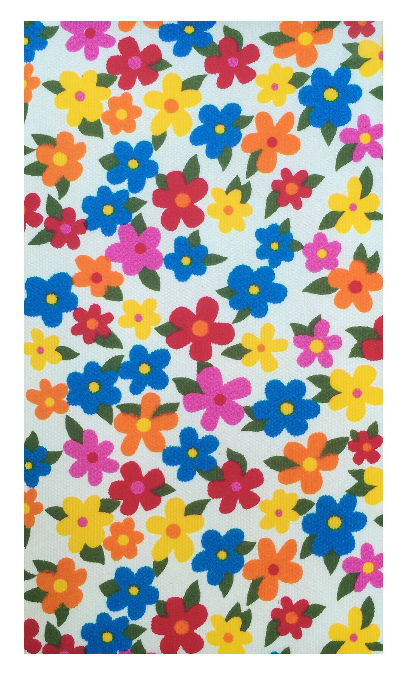 Home & Kitchen Multi Color Flowers Cotton Guest Check Presenter for Restaurant, Check Holder, Restaurant Server Book, Waitstaff Organizer (With Plastic Cover)