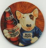 Spud Mckenzie Bud Light Beer Coaster Set of 4 - Bull Terrier