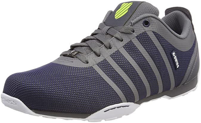 K-Swiss Arvee 1.5 Tech, Sneakers Basses Homme, Gris (Charcoal/Navy/Neon Citron), 41 EU