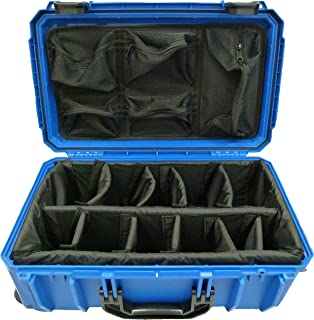 "product image for Seahorse ""Light"" series Blue SE830 case w/ dividers & Lid org. Comes with wheels."