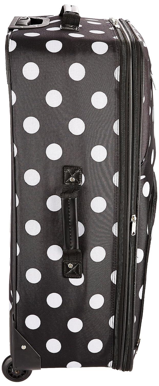 Leopard Rockland Luggage 3 Piece Printed Luggage Set Medium