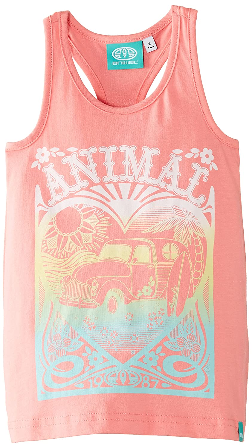 Animal Girl's Bellia Tank Top Orange (Peach) CL5SG814-G07-GS