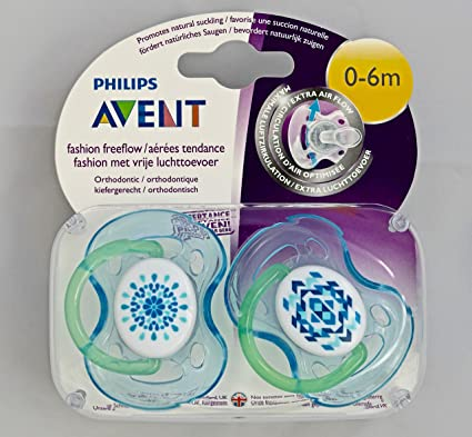 Philips Avent Fashion: 2 x Chupetes 0-6m (Azul): Amazon.es: Bebé