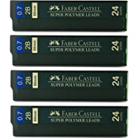 Faber-Castell 0.7mm 2B Super Polymer Premium Strong Dark Smooth Leads Mechanical Pencil Lead Refills For All 0.7 mm…
