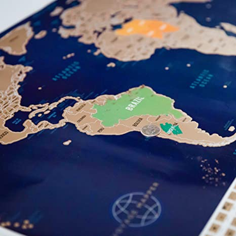 Scratch Off World Map Poster.Amazon Com Large Scratch Off World Map Poster With Us States 208