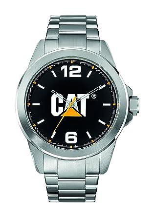 CAT Watches Mens YS14011131 Icon Analog Display Quartz Silver Watch
