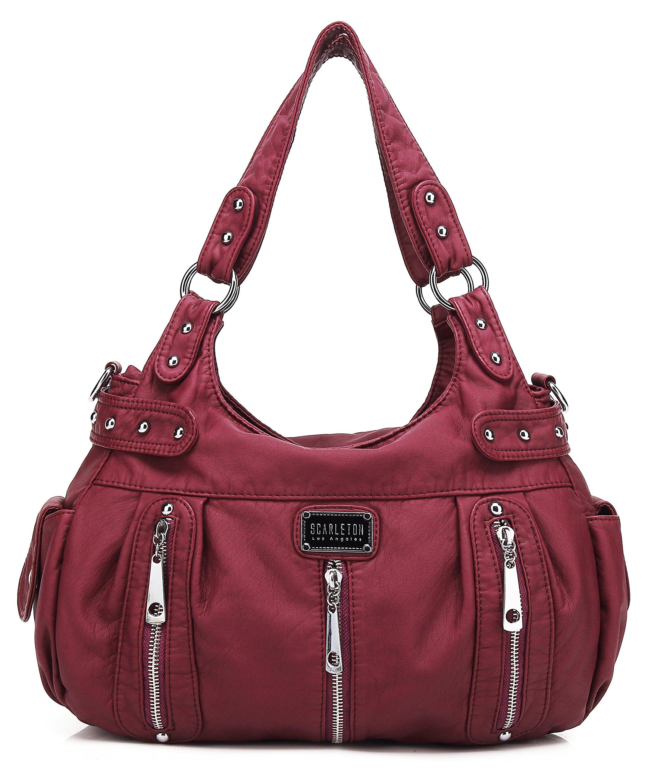 Scarleton 3 Front Zipper Shoulder Bag H129216 - Purple (Magenta)