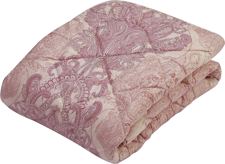 京都西川 敷きパッド ピンク 120×200cm 日本製 羊毛わた使用 4H8535#13R SD B07D3GYSBN ピンク 120×200cm