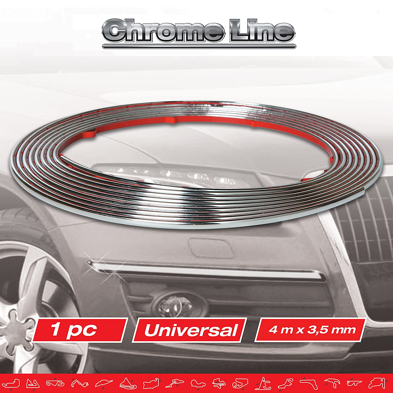 Sumex 13995 Bande adh/ésive d/écorative Race Sport Chrom/é 4 m x 3,5 x 3 mm