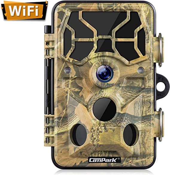 Campark Trail Camera-WiFi 20MP 1296P Hunting Game Camera with Night Vision Motion Activated for Outdoor Wildlife Monitoring Waterproof IP66