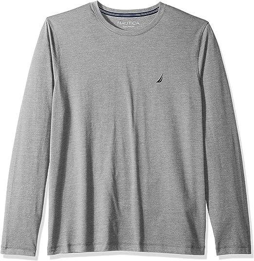 Nautica Mens Super Soft Basic Crew Neck Long Sleeve Tee Shirt T-Shirt