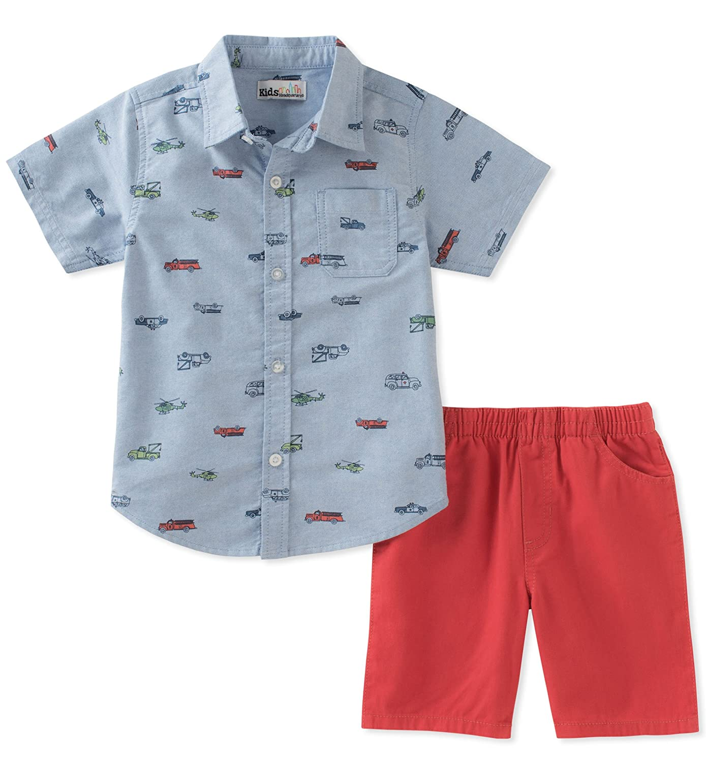 Kids Headquarters Boys' 2 Pieces Shirt Shorts Set P000512963
