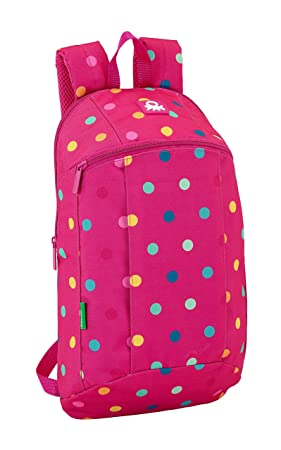 Safta Mini Mochila Day Pack Ucb Dots Pink Oficial Uso Diario 220x100x390mm: Amazon.es: Equipaje