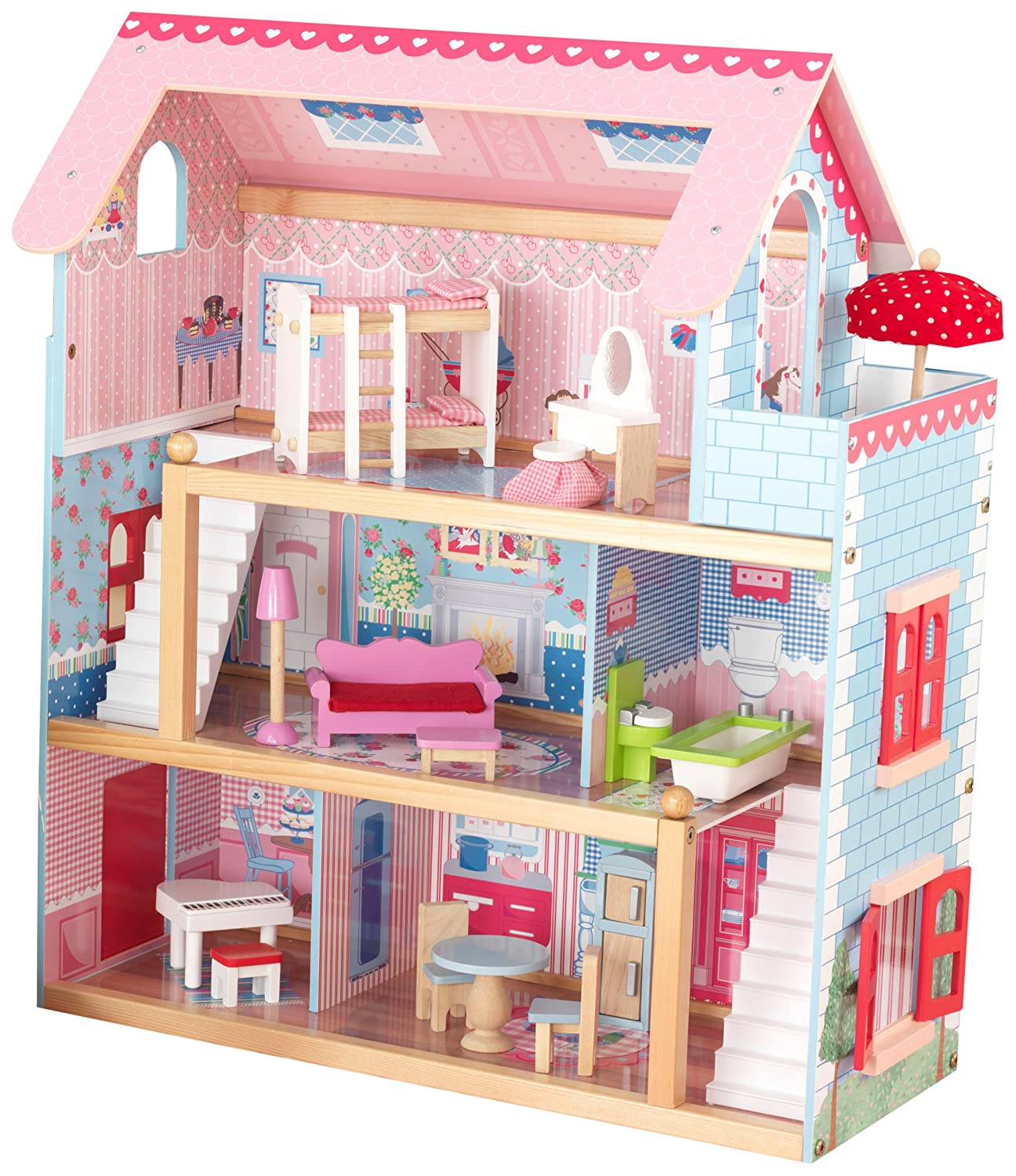Kidkraft Chelsea Doll Cottage 3 Levels  Multiple Children