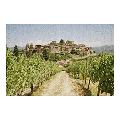 Tuscany, Italy - Montefioralle Vineyard and Farmhouse 9003174 (Premium 1000 Piece Jigsaw Puzzle for Adults, 20x30, Made in USA!): Toys & Games