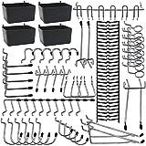 Pegboard Hooks Assortments 85PCS with Metal Hooks ,Pegboard Bins,Peg Locks for Tool Organization