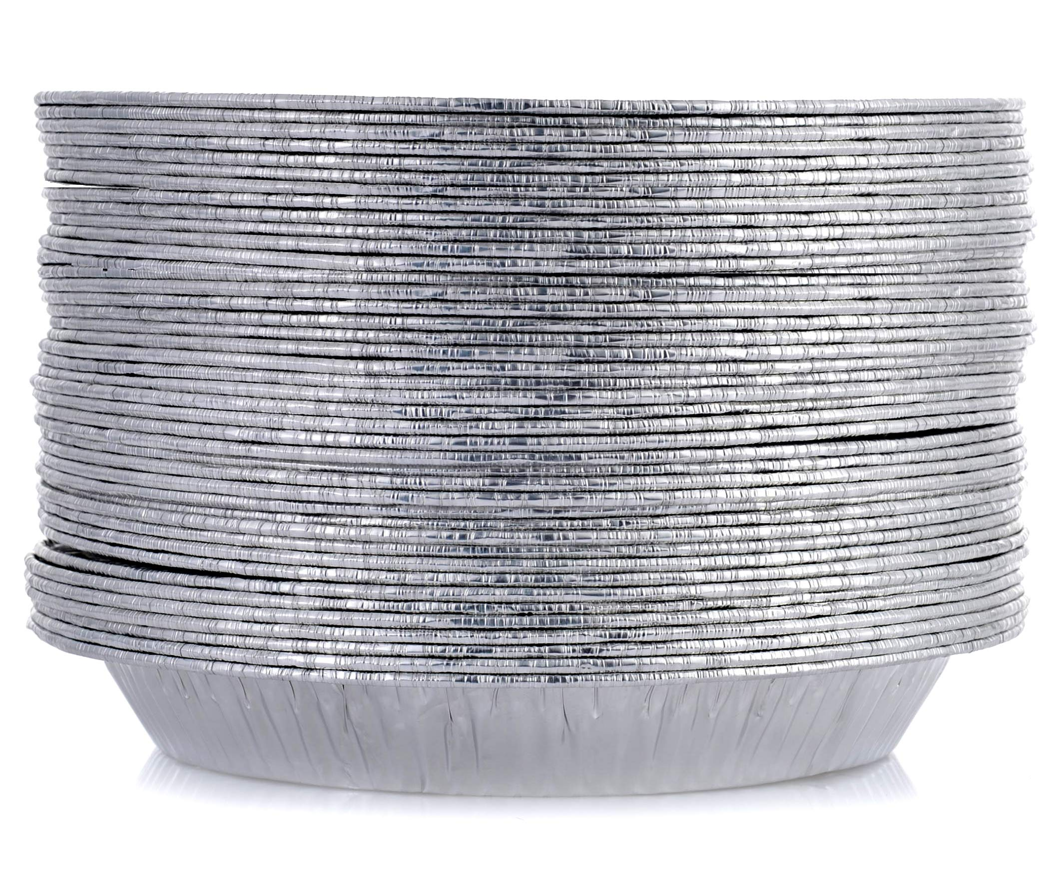 [50 Pack - 9'' Size] Pie Pans - HEAVY-DUTY - Disposable Aluminum Foil Pie Plates, Made in USA by DOBI