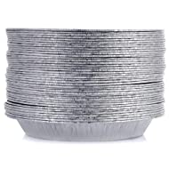 "[50 Pack - 9"" Size] Pie Pans - HEAVY-DUTY - Disposable Aluminum Foil Pie Plates, Made in USA"