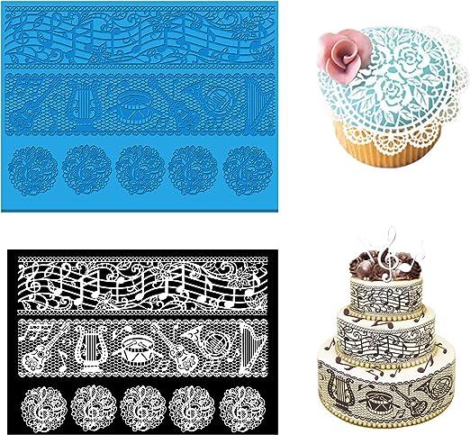 Silicone*Necklace Mold Fondant Mat Lace Baking Mould Cake Decorating Sugar Craft