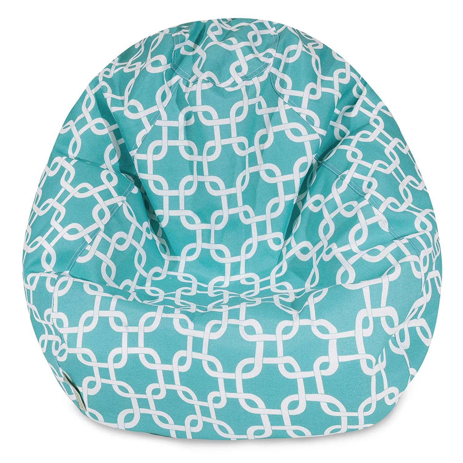 Majestic Home Goods Classic Bean Bag Chair Majestic Home Goods LG 85907248034 Teal Blue 28 x 28 x 22 Inches Links Giant Classic Bean Bags for Small Adults and Kids