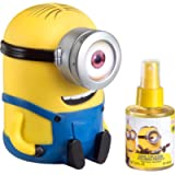 Minions for Kids - 2 Pc Gift Set 3.4oz Cool Cologne Spray, Money Box, 1 Count