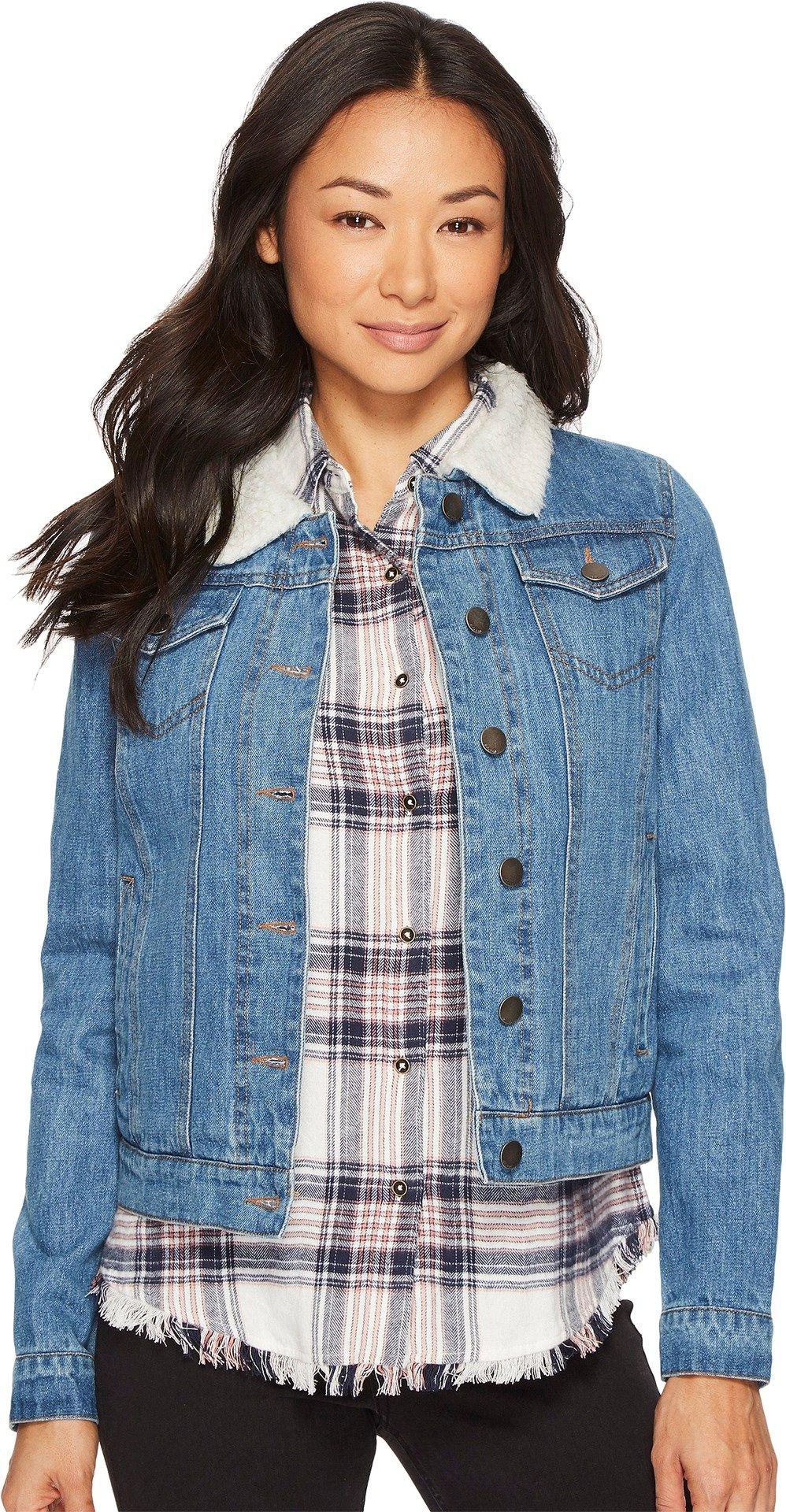 Rip Curl Women's Janis Denim Jacket Blue X-Large