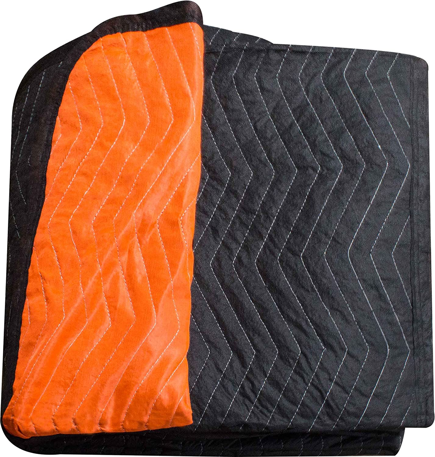 "Burly moving blanket from Forearm Forklift-1 moving blanket ""Blaze"" orange/black 