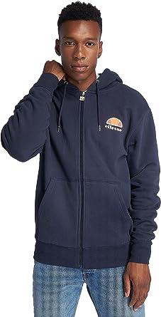 Ellesse Miletto Cotton Hooded Full Zip Navy Hoodie