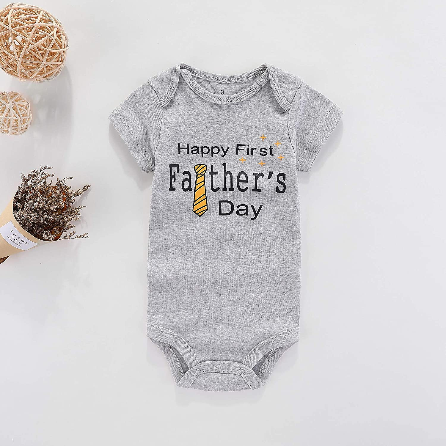 Amazon.com: WINZIK Happy 1st Fathers Day - Body para bebé ...