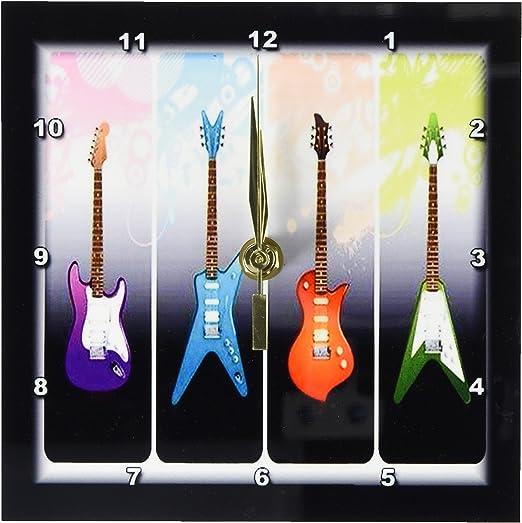 3dRose dc 40766 _ 1 con 4-Heavy Metal N guitarras Rock reloj de ...