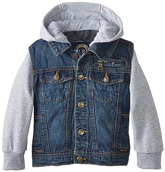 Amazon.com: Urban Republic Big Boys&39 Denim Jacket With Fleece Hood